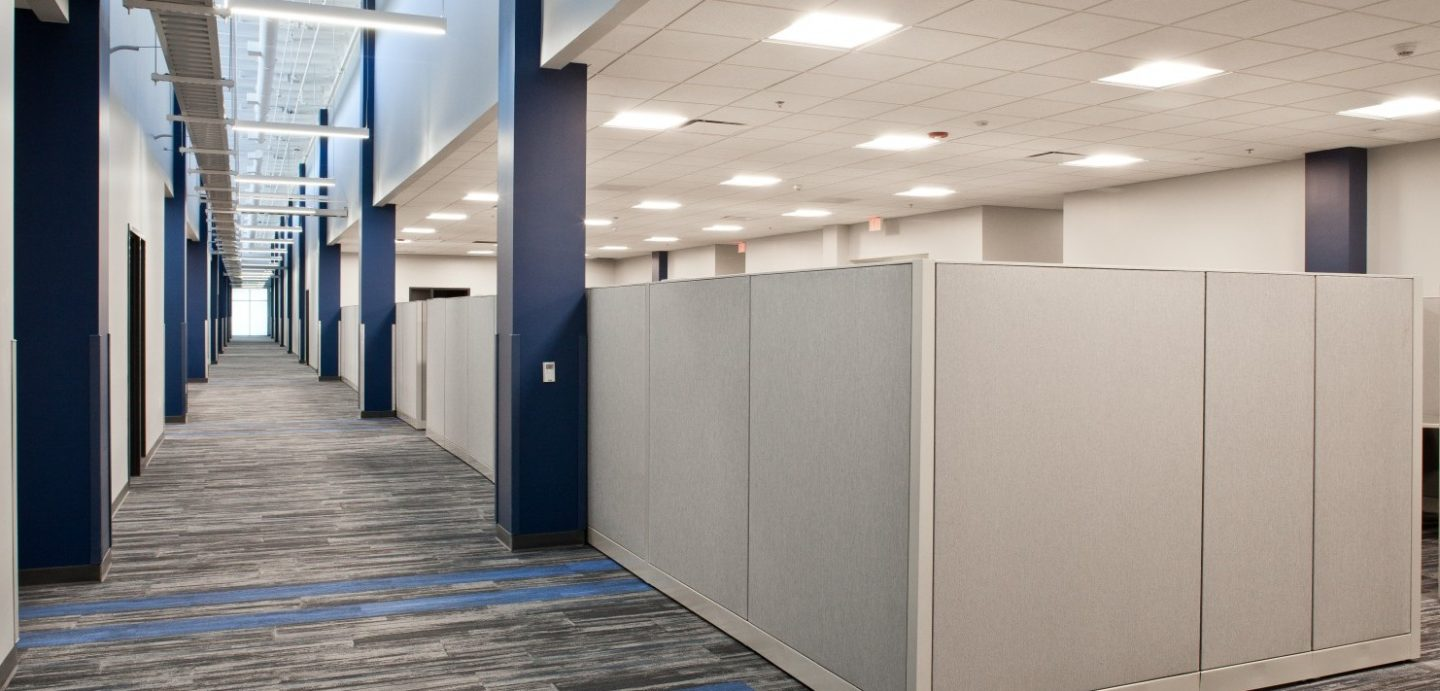 LyondellBasell building office cubicles