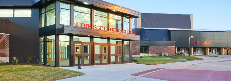 North Scott High School front entrance