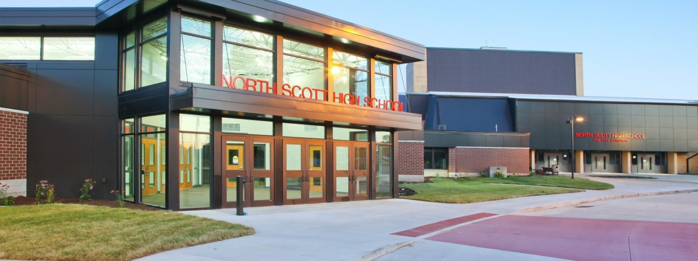 North Scott High School front entrance