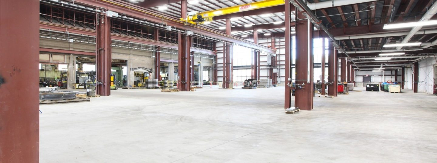Bowe machining building factory floor