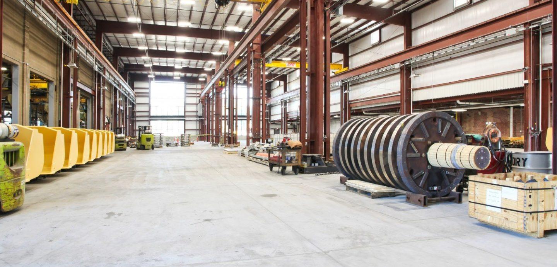 Bowe machining building factory floor