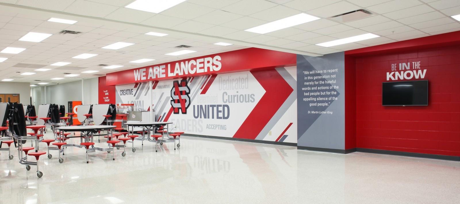 North Scott High School cafeteria
