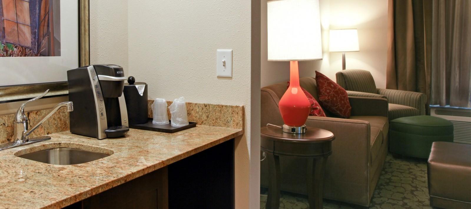 HIlton hotel room sink