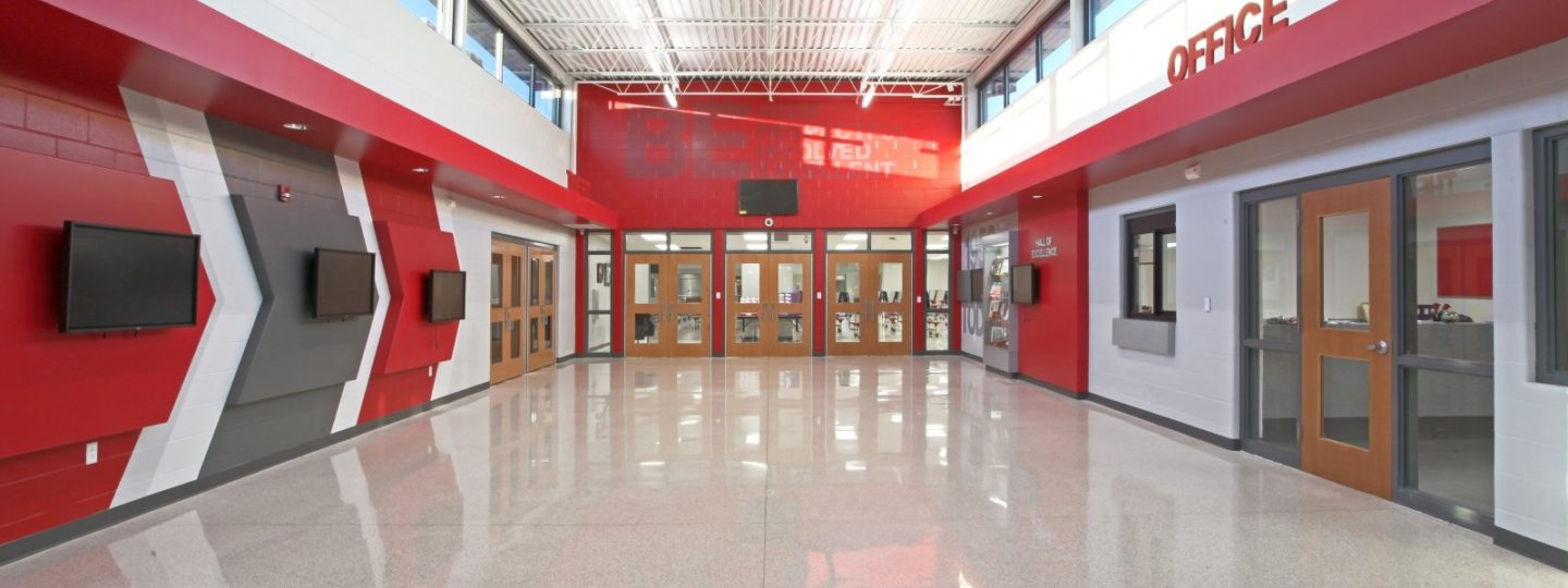 North Scott High School entrance