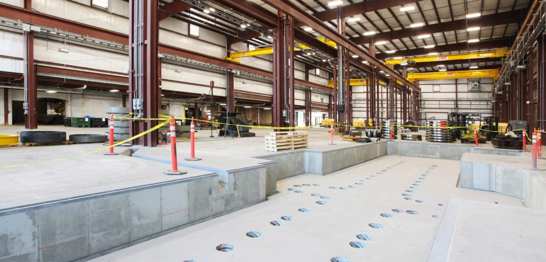 Bowe machining building internal factory floor