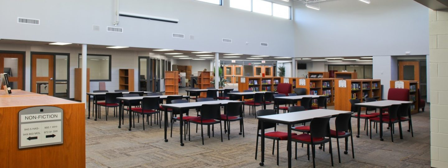 North Scott High School library