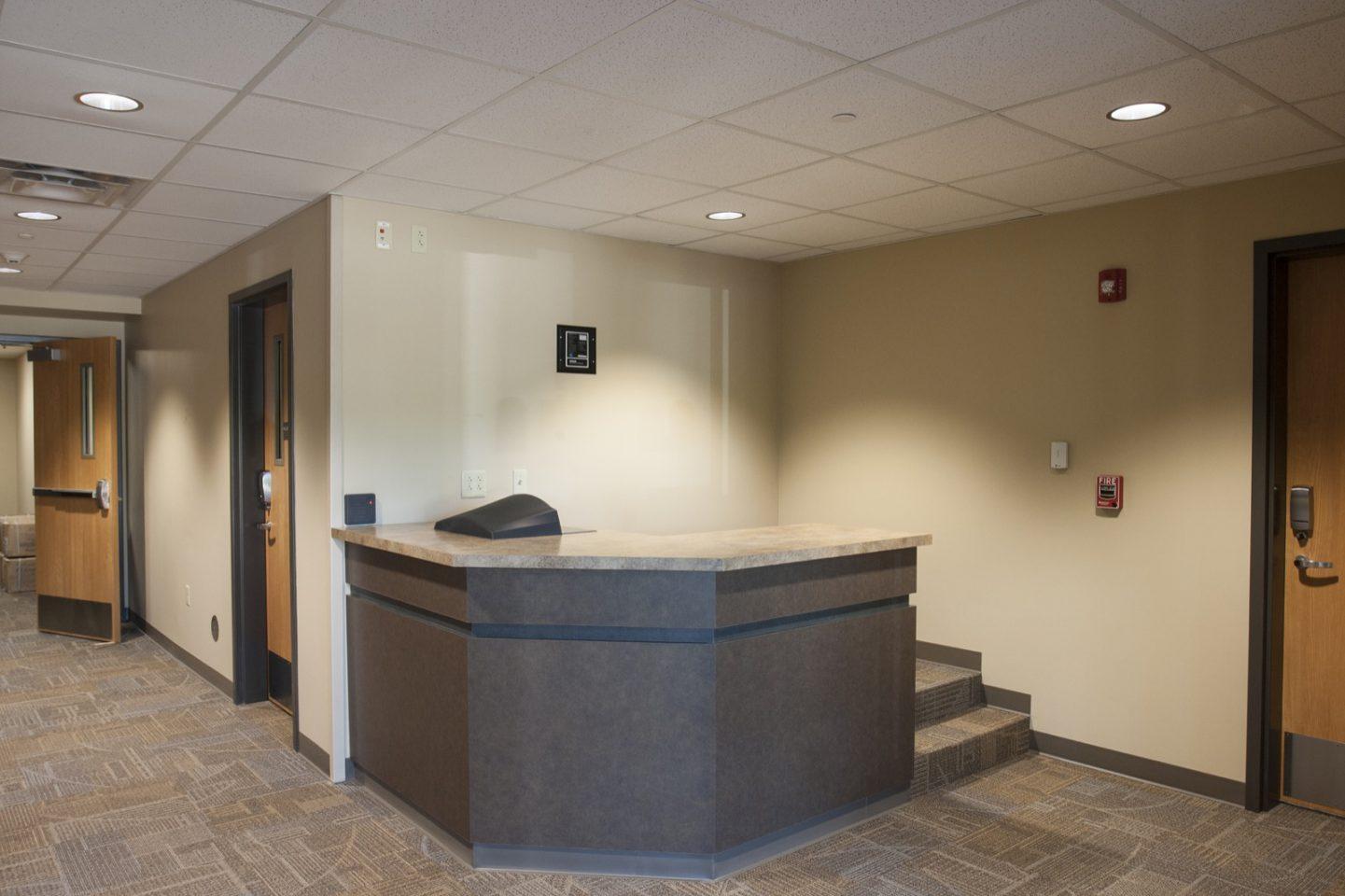 St. Ambrose North Hall concierge desk