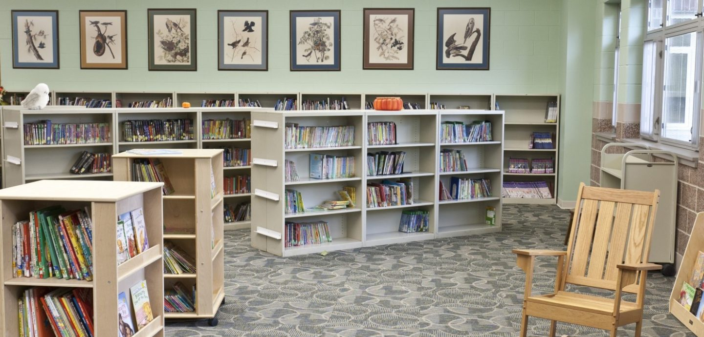 Rock Island Center for Math and Science interior library