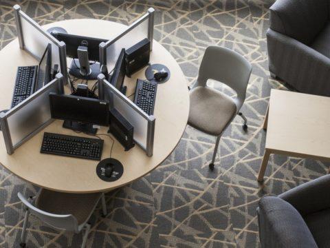 Black Hawk College new student computer station