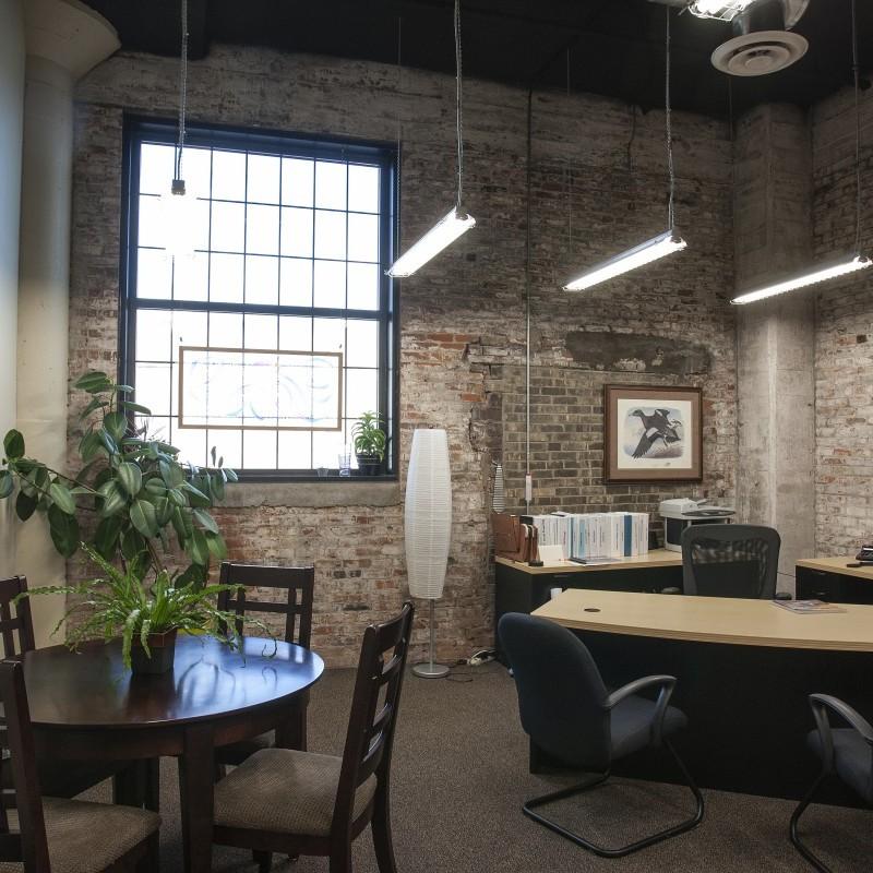 Pershing Lofts lobby office