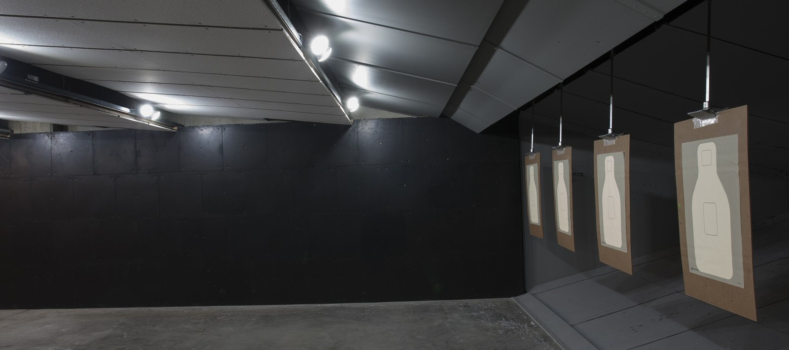 Side view of shooting range