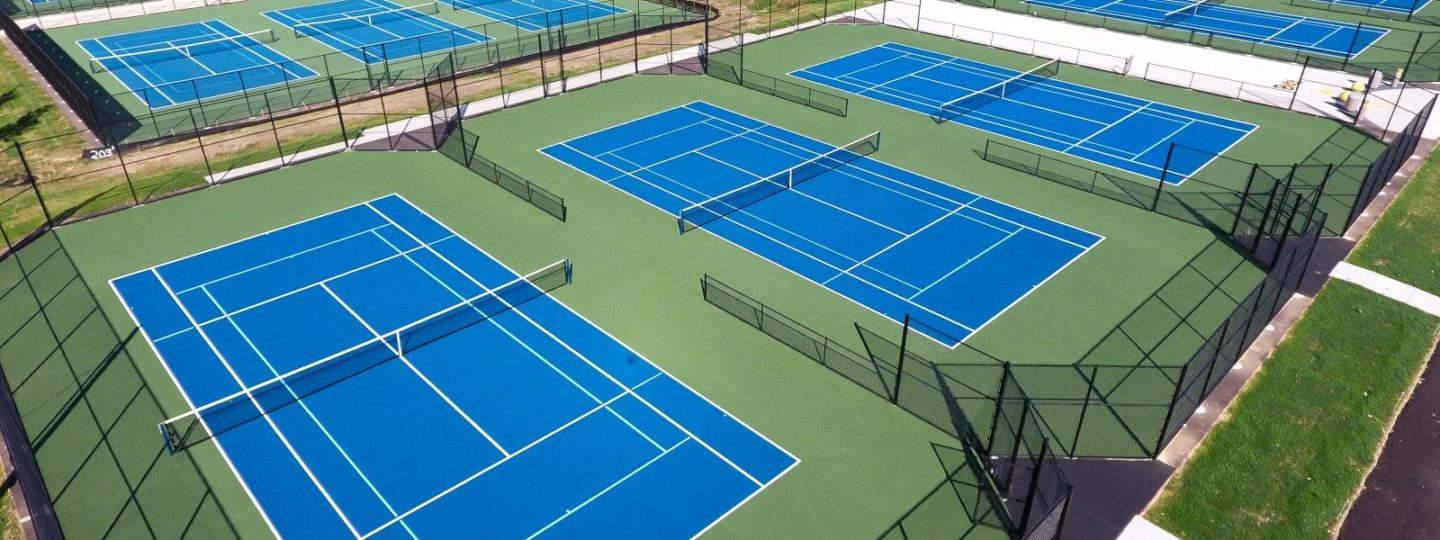Bettendorf tennis courts aerial overview