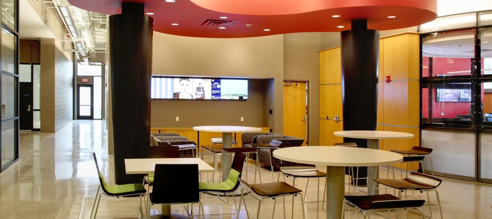 MetroLINK Transit maintenance facility lunch room