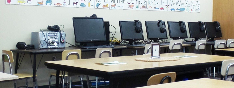 Truman Elementary computers along wall