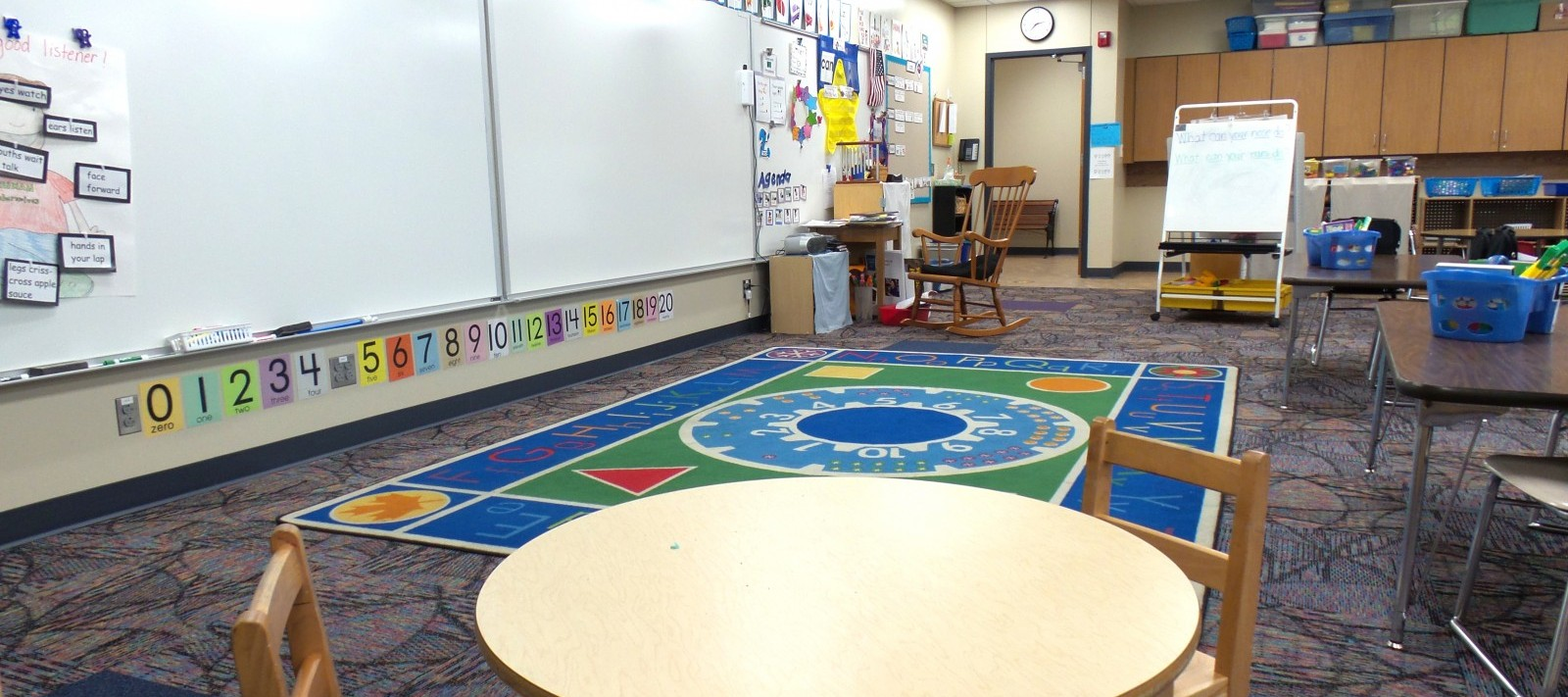 Truman Elementary classroom with small table