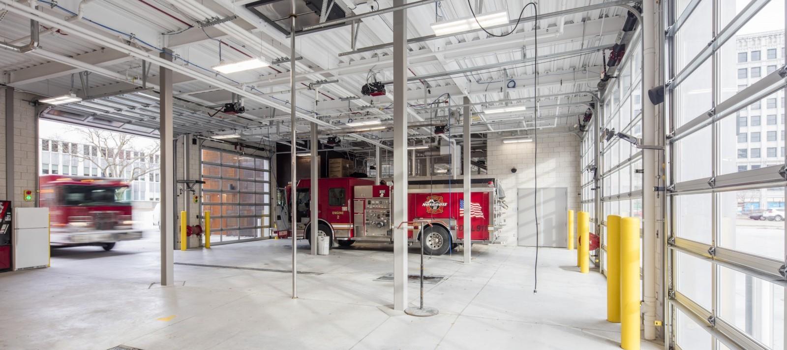 Davenport Fire Department truck garage