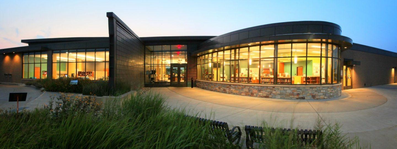 Davenport Public Library Eastern Branch entryway
