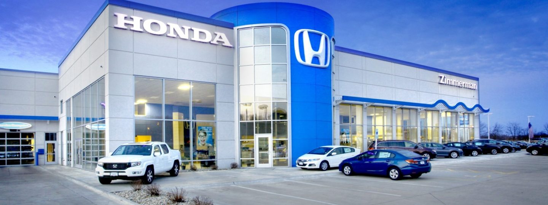 Overview shot of Zimmerman Honda customer building