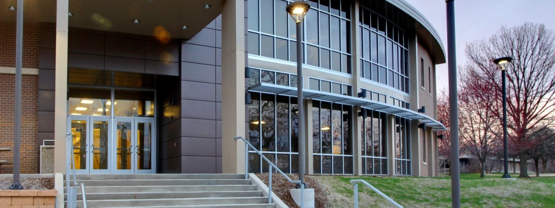 Black Hawk College exterior entryway