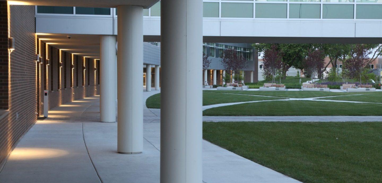 Western Illinois University Riverfront campus colonade