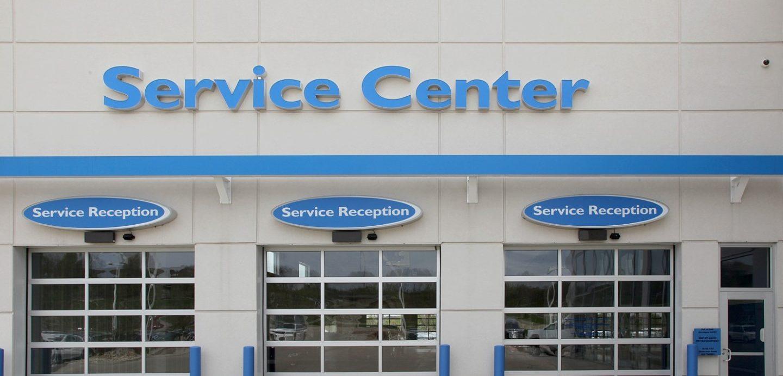 Zimmerman Honda service center garage entrance