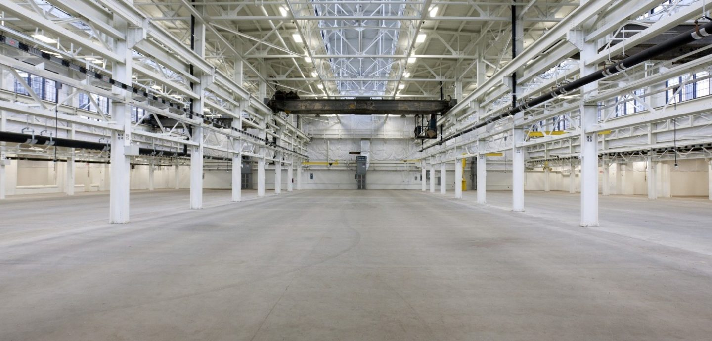 Interior view of arsenal building overall