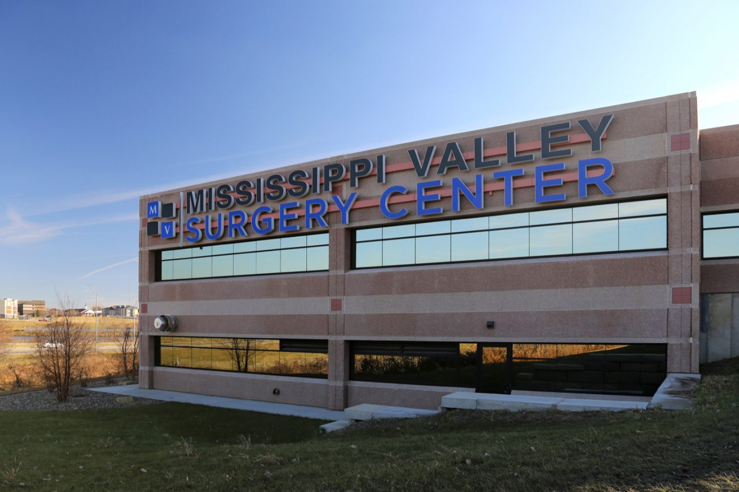 Mississippi Valley Surger Center exterior building with logo