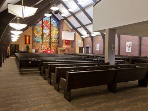 Our Savior Lutheran Church new pews