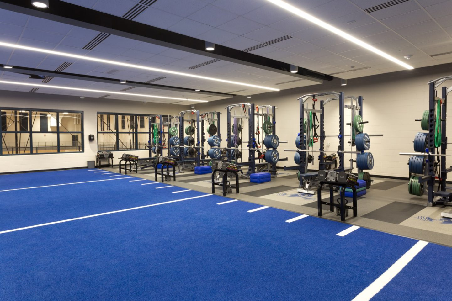 Pleasant Valley High School weight room