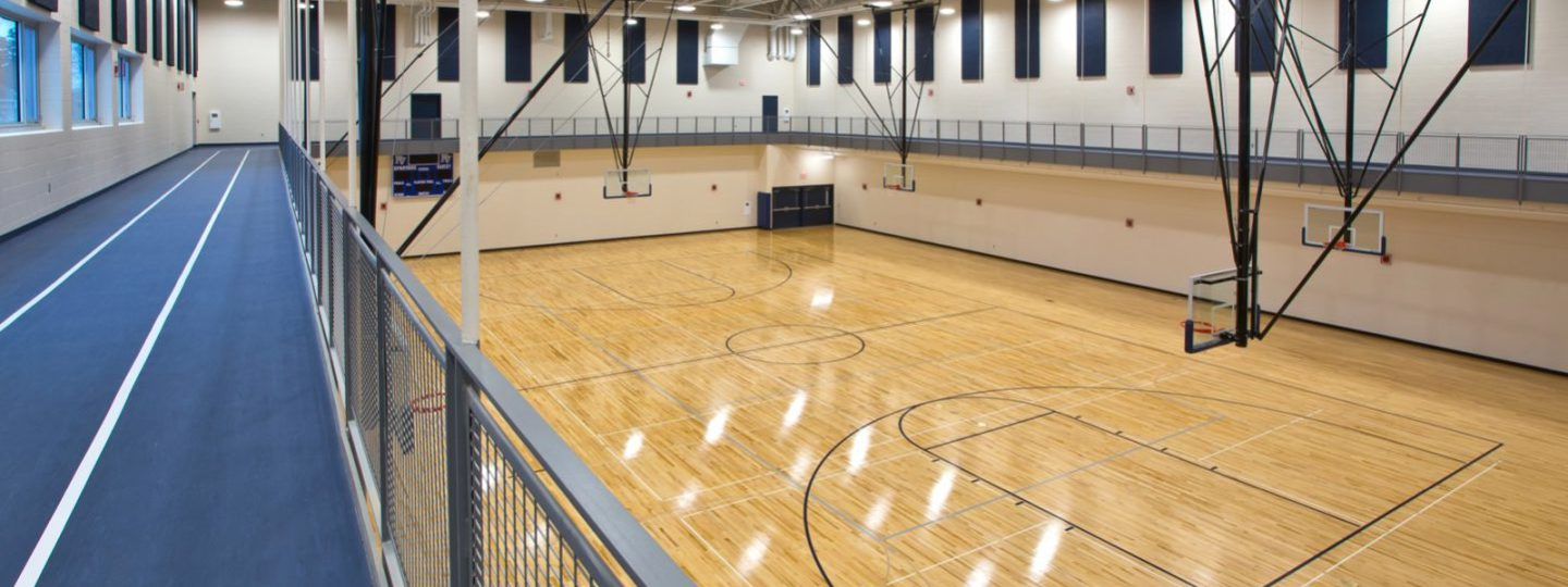 Pleasant Valley High School gym and basketball courts