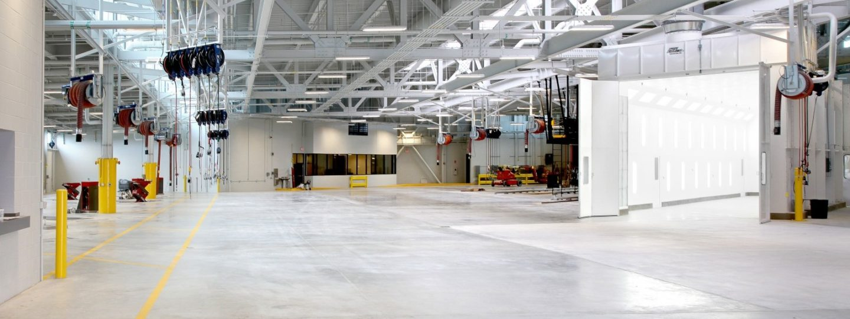 MetroLINK Transit maintenance facility interior