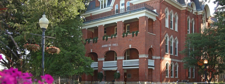 Ambrose Hall side exterior