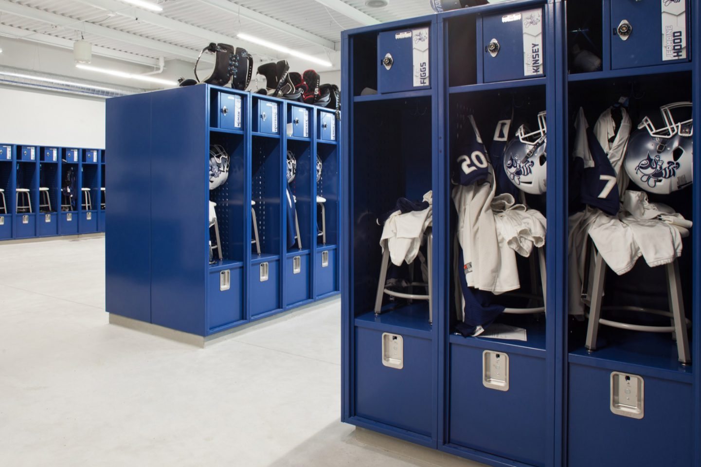 St. Ambrose, St. Vincent interior locker room
