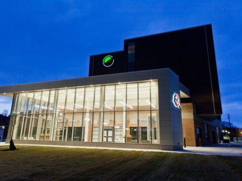 The Q exterior at night