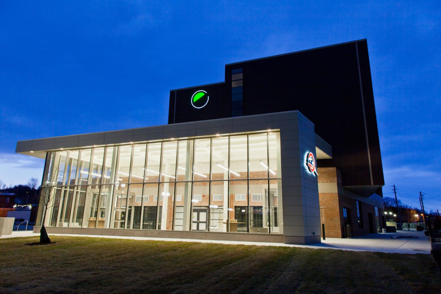 The Q exterior at night