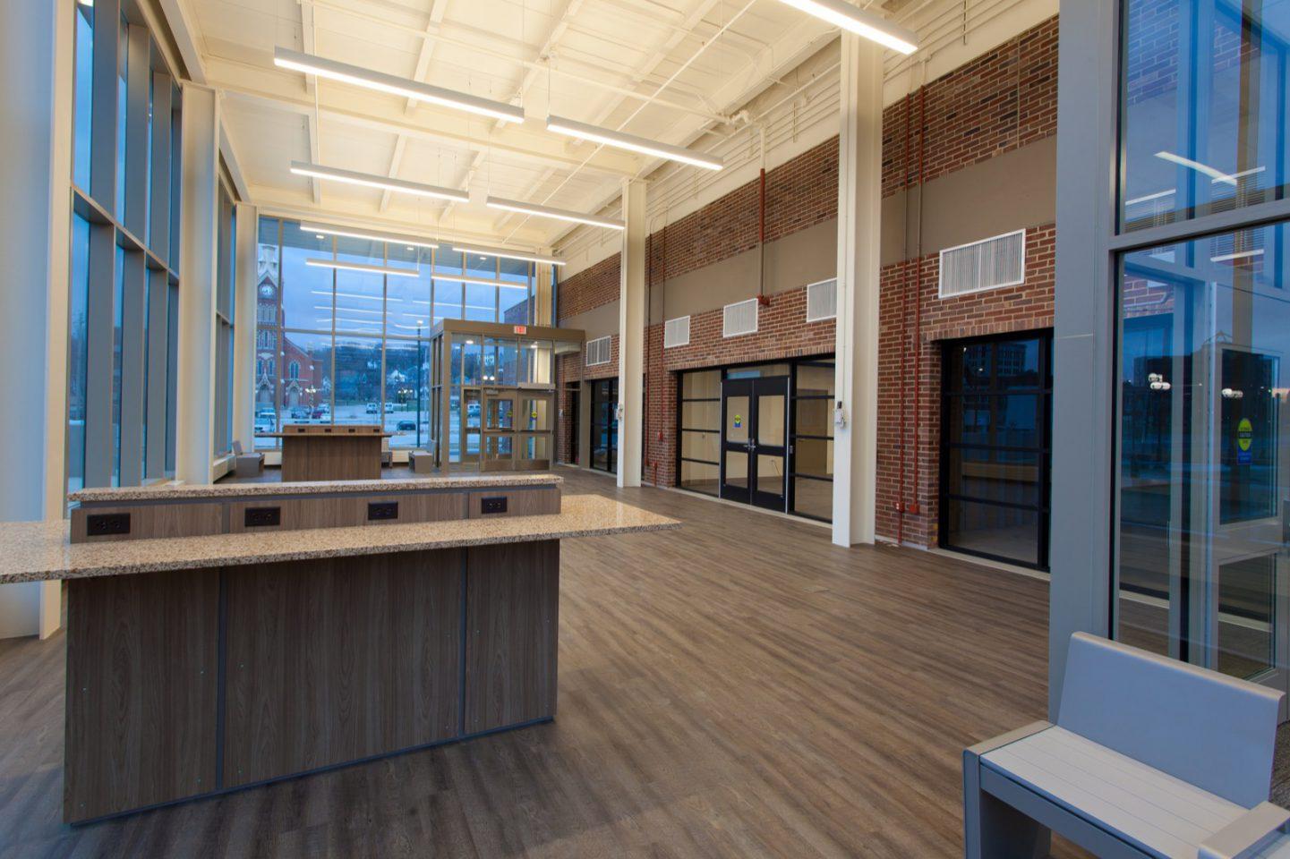 The Q interior lobby