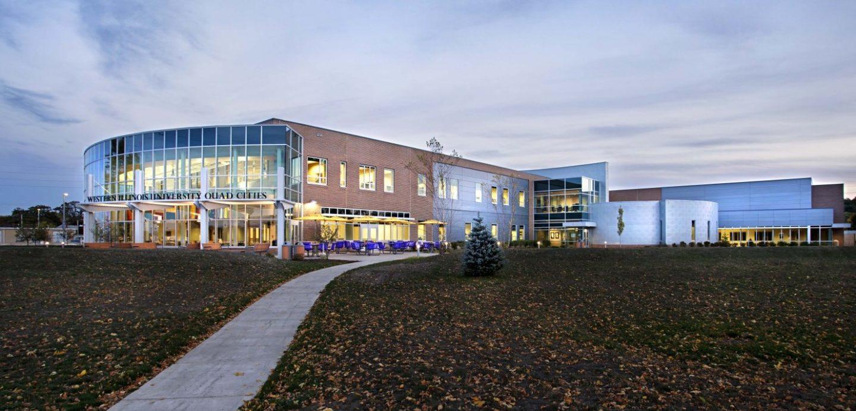 Western Illinois University at dusk