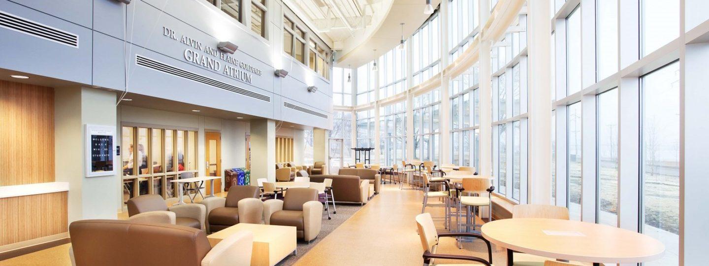 Western Illinois University interior curved study area