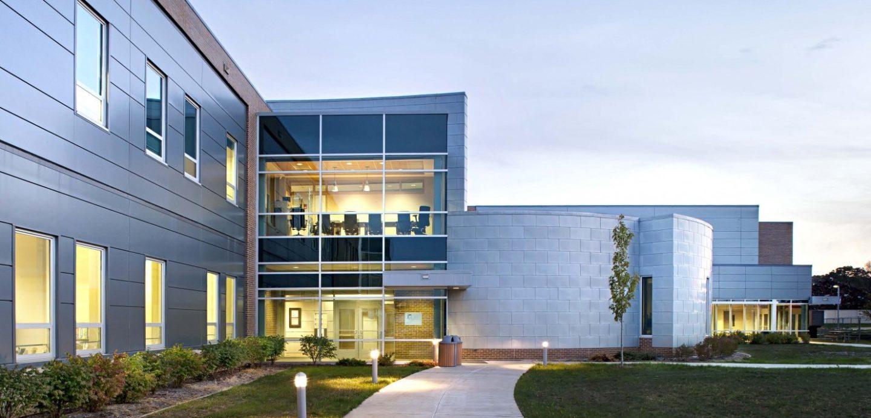 Western Illinois University exterior side entrance