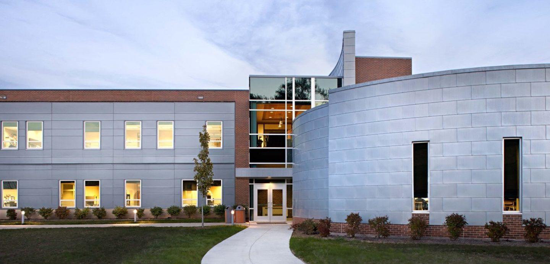 Western Illinois University exterior entryway walkup