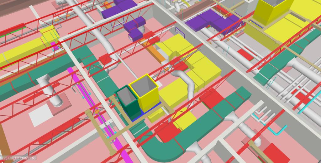 BIM 3D model render