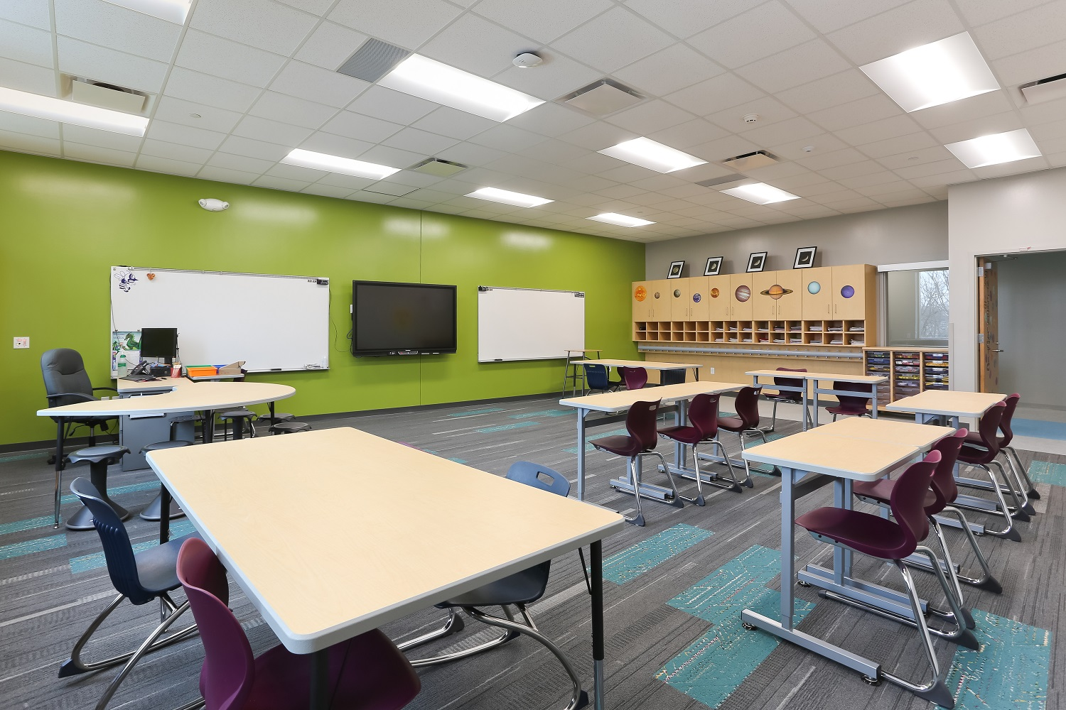 Mark Twain Elementary School students's new learning environment is open and bright