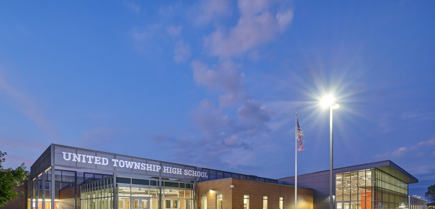 Exterior Image of United Township High School
