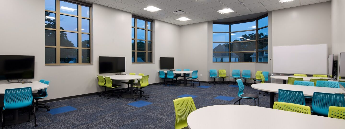 McMullen Hall features a variety of learning classrooms