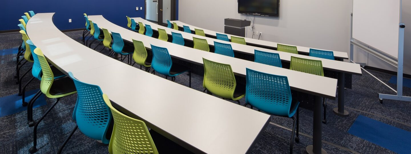 McMullen Hall's College of Business classroom