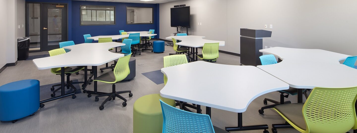 Modular classrooms have been incorporated into SAU's McMullen Hall
